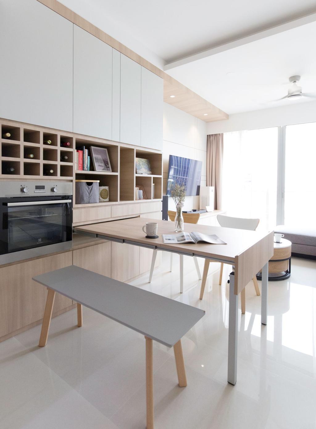 Scandinavian, Condo, Kitchen, Bartley Residences, Interior Designer, Carpenters 匠
