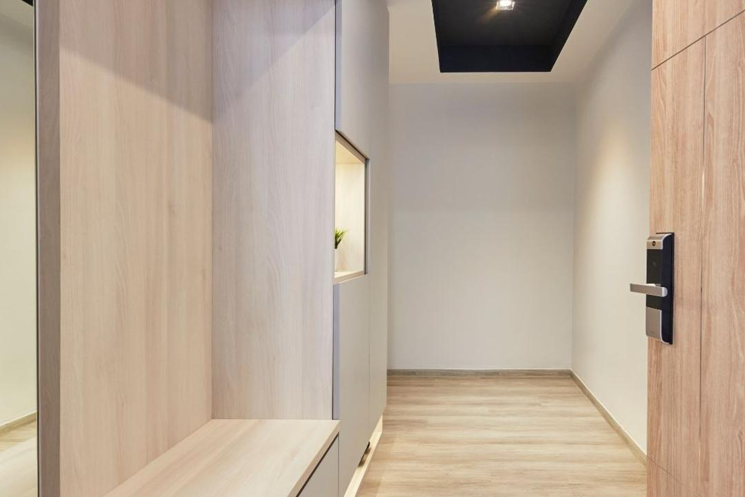 Hundred Palms Residences, Carpenters 匠, Modern, Scandinavian, Living Room, Condo, Shoe Cabinet, Foyer, Entrance, Shoe Storage, Shoe Seat, Shoe Settee