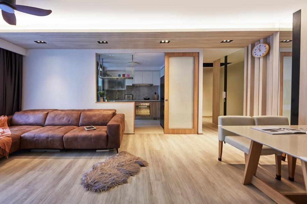 Modern, Condo, Living Room, Hundred Palms Residences, Interior Designer, Carpenters 匠, Scandinavian