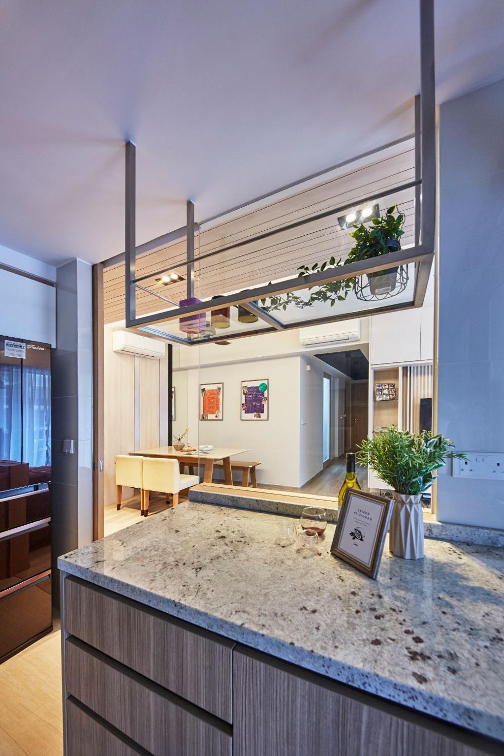 Modern, Condo, Kitchen, Hundred Palms Residences, Interior Designer, Carpenters 匠, Scandinavian
