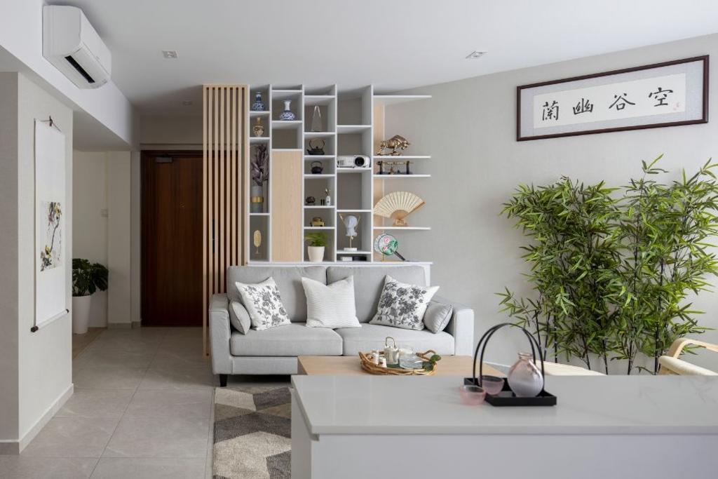 Contemporary, Condo, Living Room, Regentville, Interior Designer, Carpenters 匠, Scandinavian