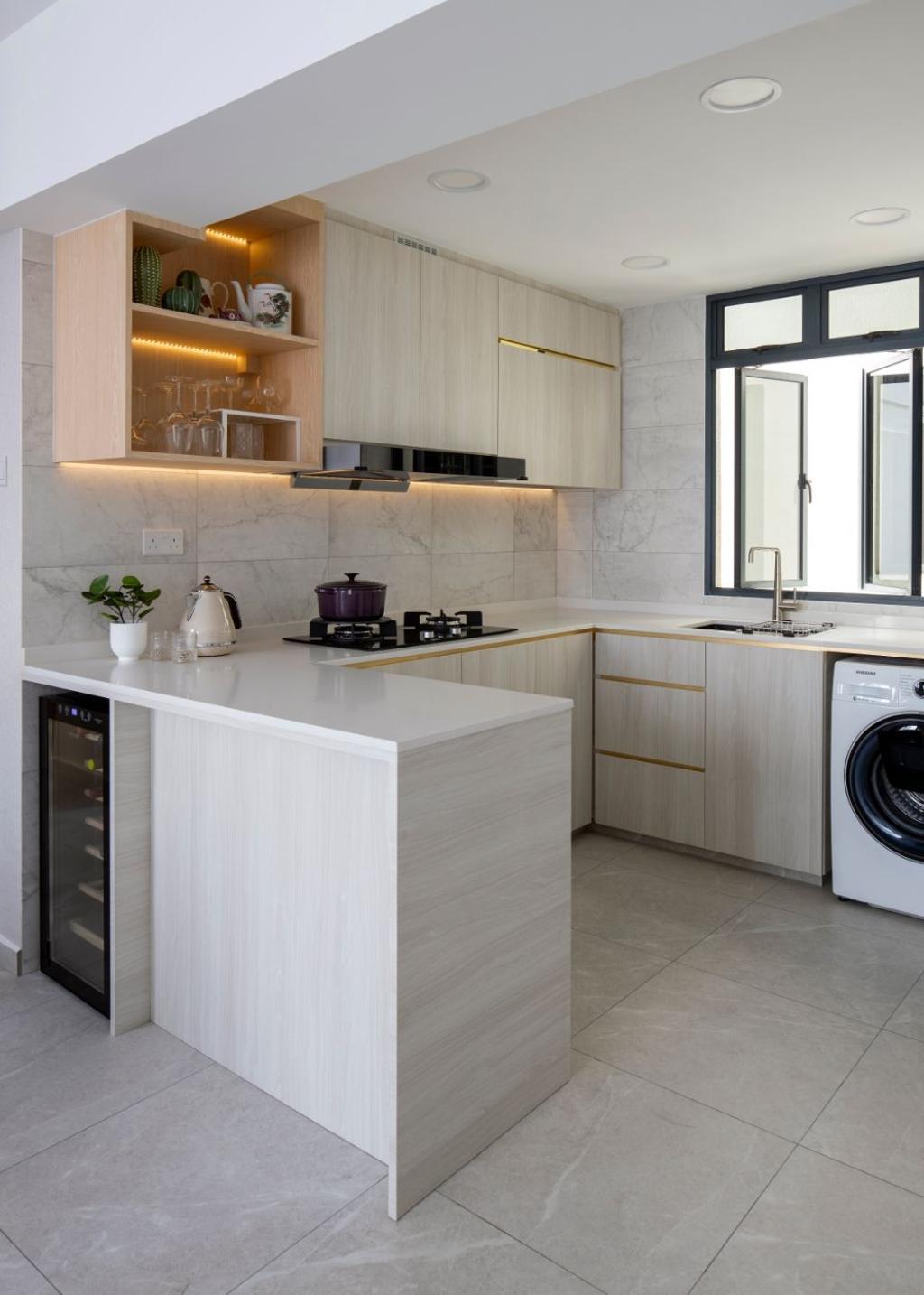 Contemporary, Condo, Kitchen, Regentville, Interior Designer, Carpenters 匠, Scandinavian