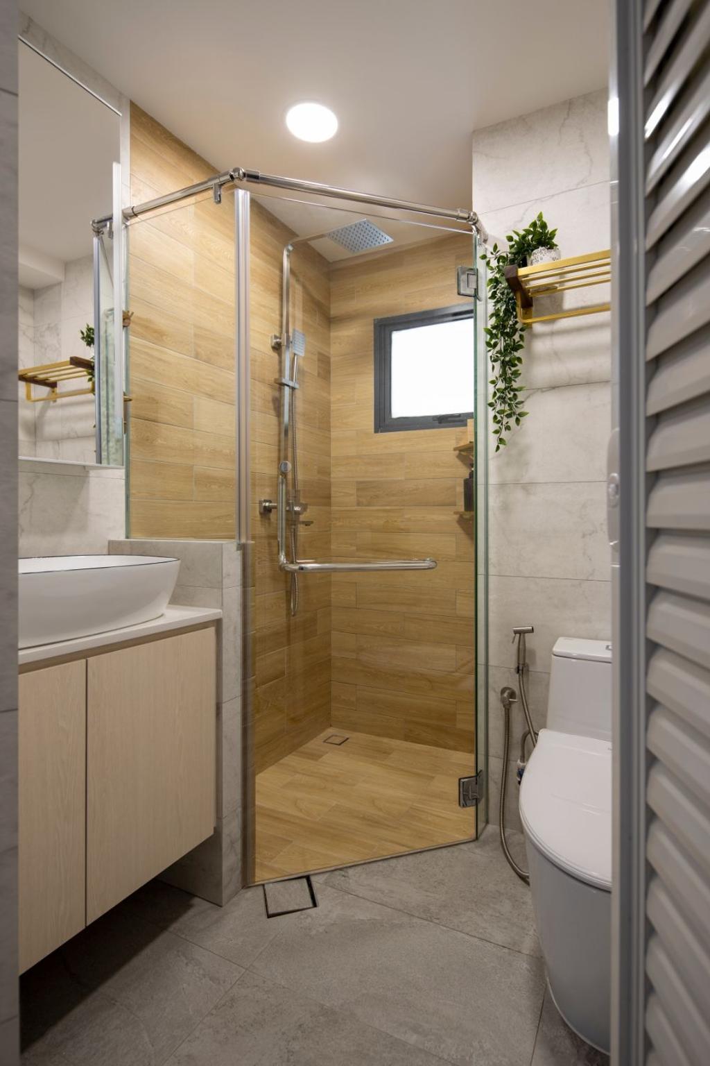 Contemporary, Condo, Bathroom, Regentville, Interior Designer, Carpenters 匠, Scandinavian