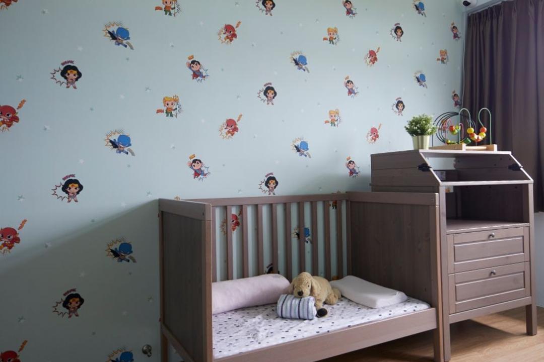 Sengkang West Road, Carpenters 匠, Modern, Contemporary, Bedroom, HDB, Crib, Nursery