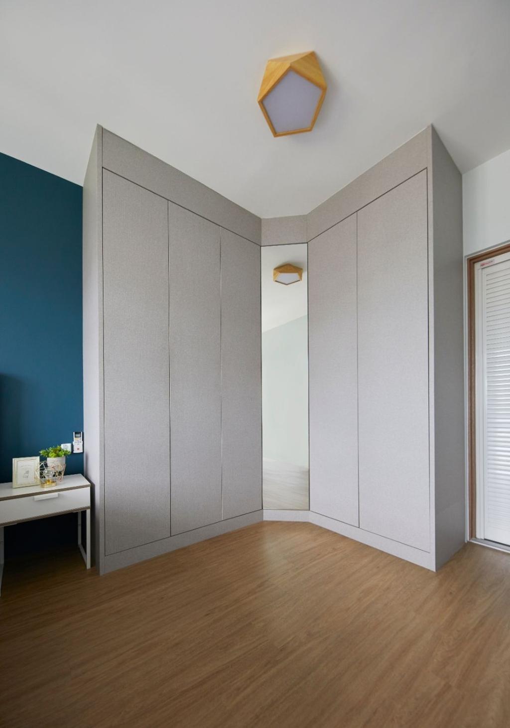 Modern, HDB, Bedroom, Sengkang West Road, Interior Designer, Carpenters 匠, Contemporary