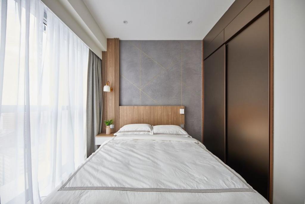 Modern, Condo, Bedroom, Queens Peak, Interior Designer, Carpenters 匠, Contemporary