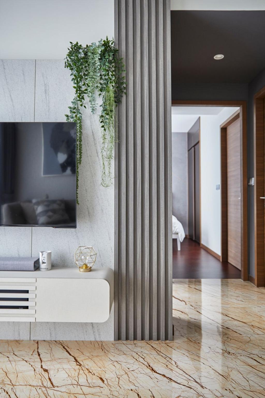 Modern, Condo, Living Room, Queens Peak, Interior Designer, Carpenters 匠, Contemporary