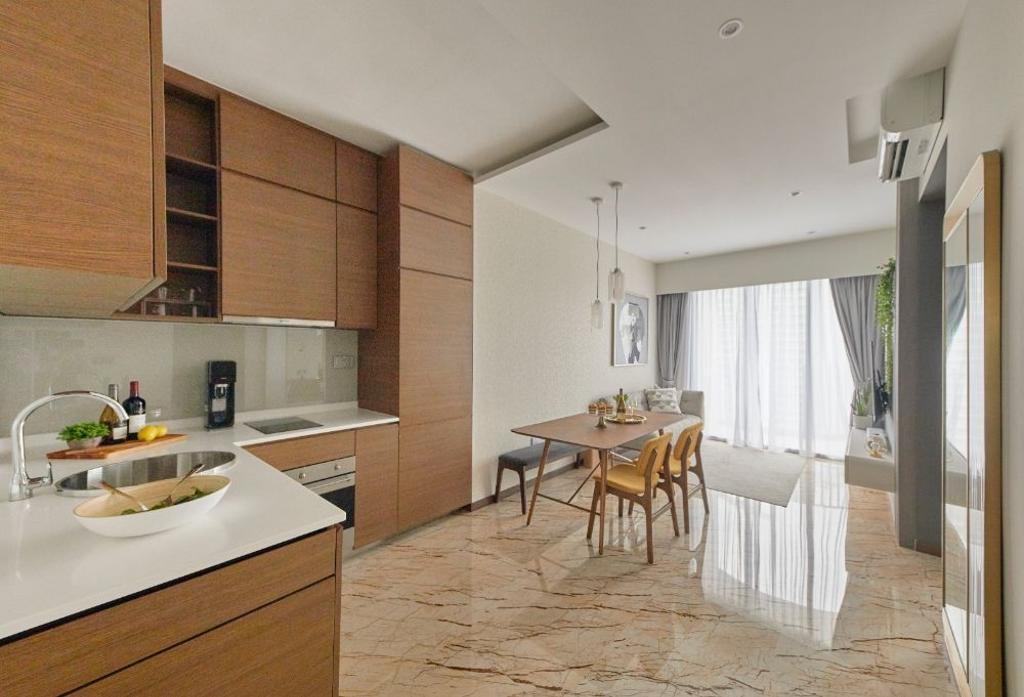 Modern, Condo, Kitchen, Queens Peak, Interior Designer, Carpenters 匠, Contemporary