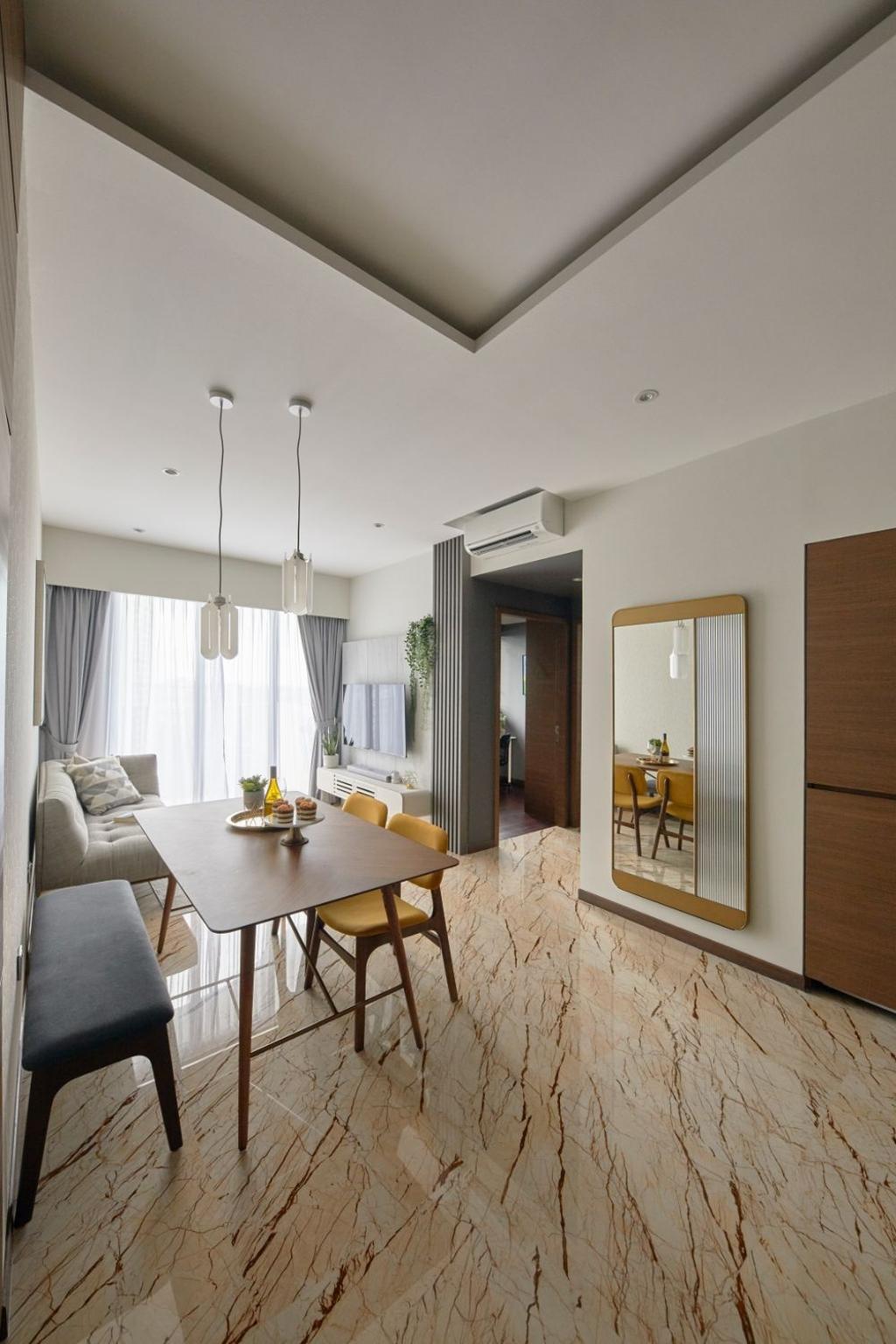 Modern, Condo, Dining Room, Queens Peak, Interior Designer, Carpenters 匠, Contemporary