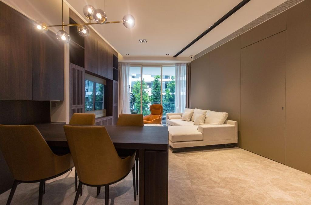 Modern, Condo, Living Room, Corals at Keppel Bay, Interior Designer, Carpenters 匠, Contemporary