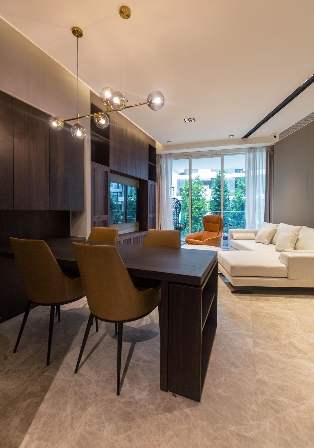 Modern, Condo, Dining Room, Corals at Keppel Bay, Interior Designer, Carpenters 匠, Contemporary