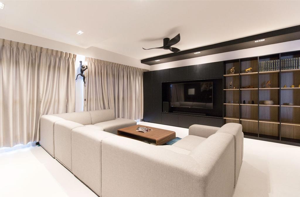 Modern, HDB, Living Room, Sumang Lane, Interior Designer, Carpenters 匠, Contemporary