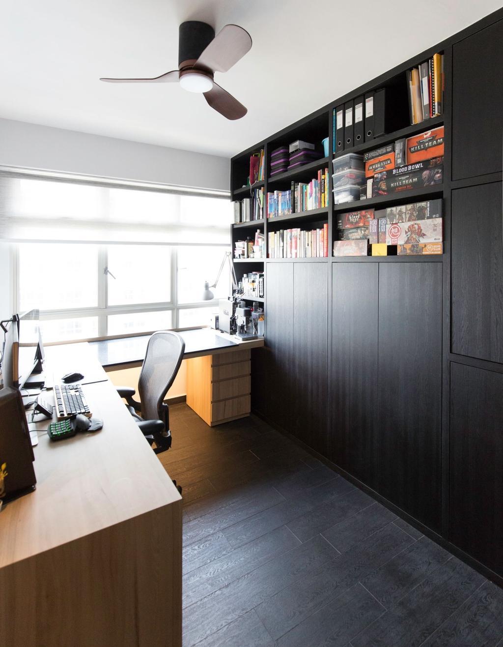 Modern, HDB, Study, Sumang Lane, Interior Designer, Carpenters 匠, Contemporary