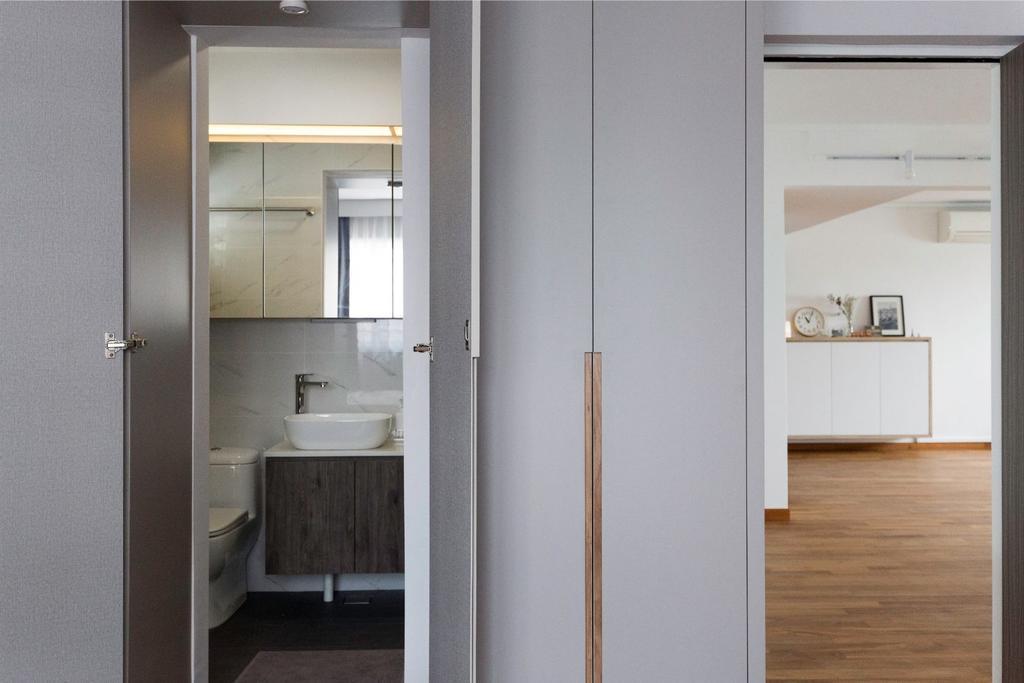 Scandinavian, HDB, Bathroom, Bishan Street 12, Interior Designer, Carpenters 匠