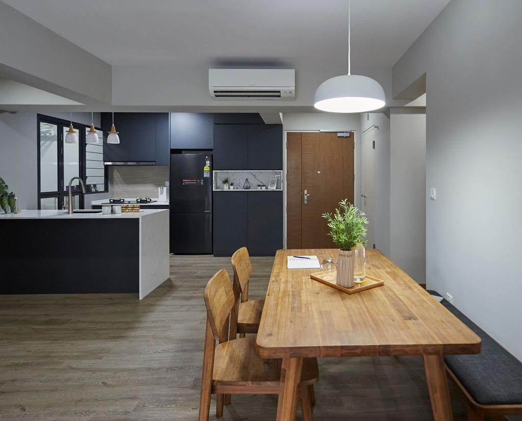 Scandinavian, HDB, Dining Room, Alkaff Crescent, Interior Designer, Carpenters 匠, Contemporary