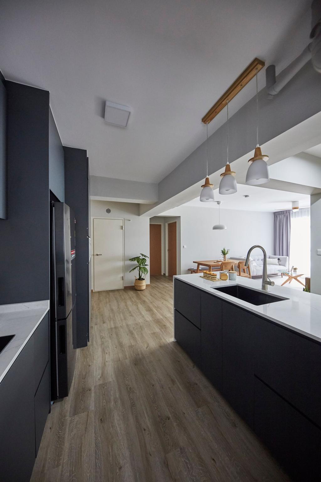 Scandinavian, HDB, Kitchen, Alkaff Crescent, Interior Designer, Carpenters 匠, Contemporary