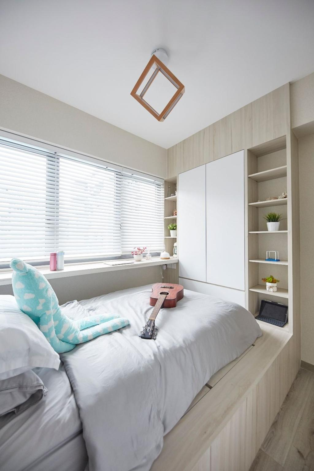 Modern, Condo, Bedroom, The Alps Residences, Interior Designer, Carpenters 匠