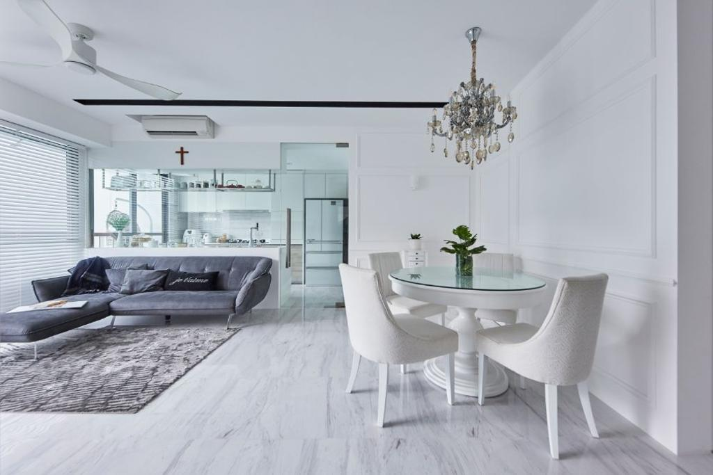 Modern, Condo, Dining Room, The Alps Residences, Interior Designer, Carpenters 匠