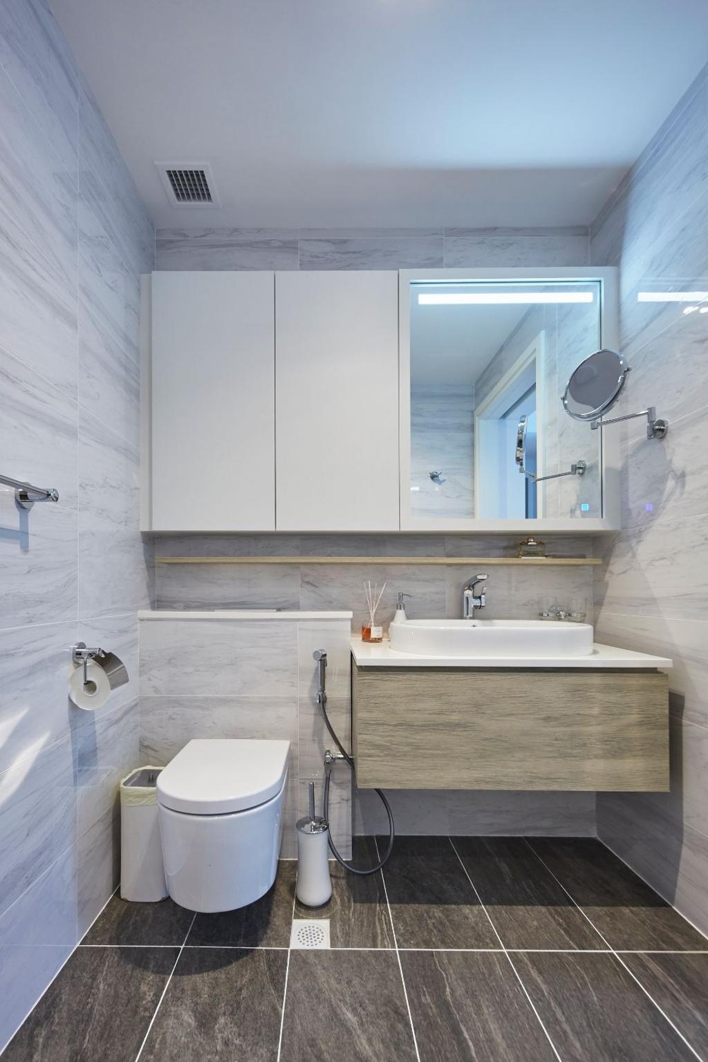 Modern, Condo, Bathroom, The Alps Residences, Interior Designer, Carpenters 匠