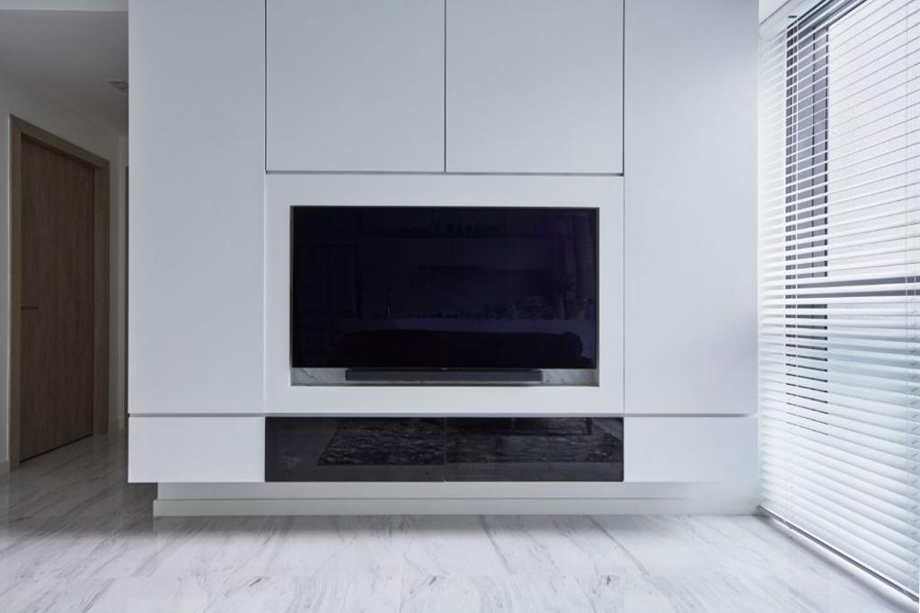 Modern, Condo, Living Room, The Alps Residences, Interior Designer, Carpenters 匠