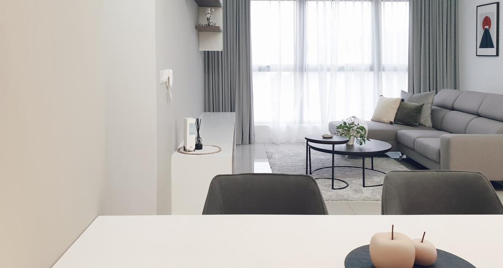 Modern, Condo, Living Room, Pavillion Residence, Bandar Puteri Puchong, Interior Designer, Josh Thompson Interiors, Minimalistic
