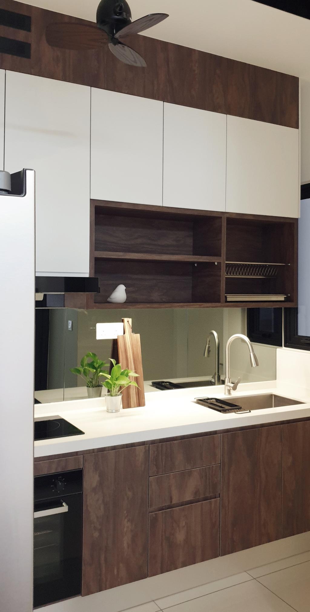 Modern, Condo, Kitchen, Pavillion Residence, Bandar Puteri Puchong, Interior Designer, Josh Thompson Interiors, Minimalistic