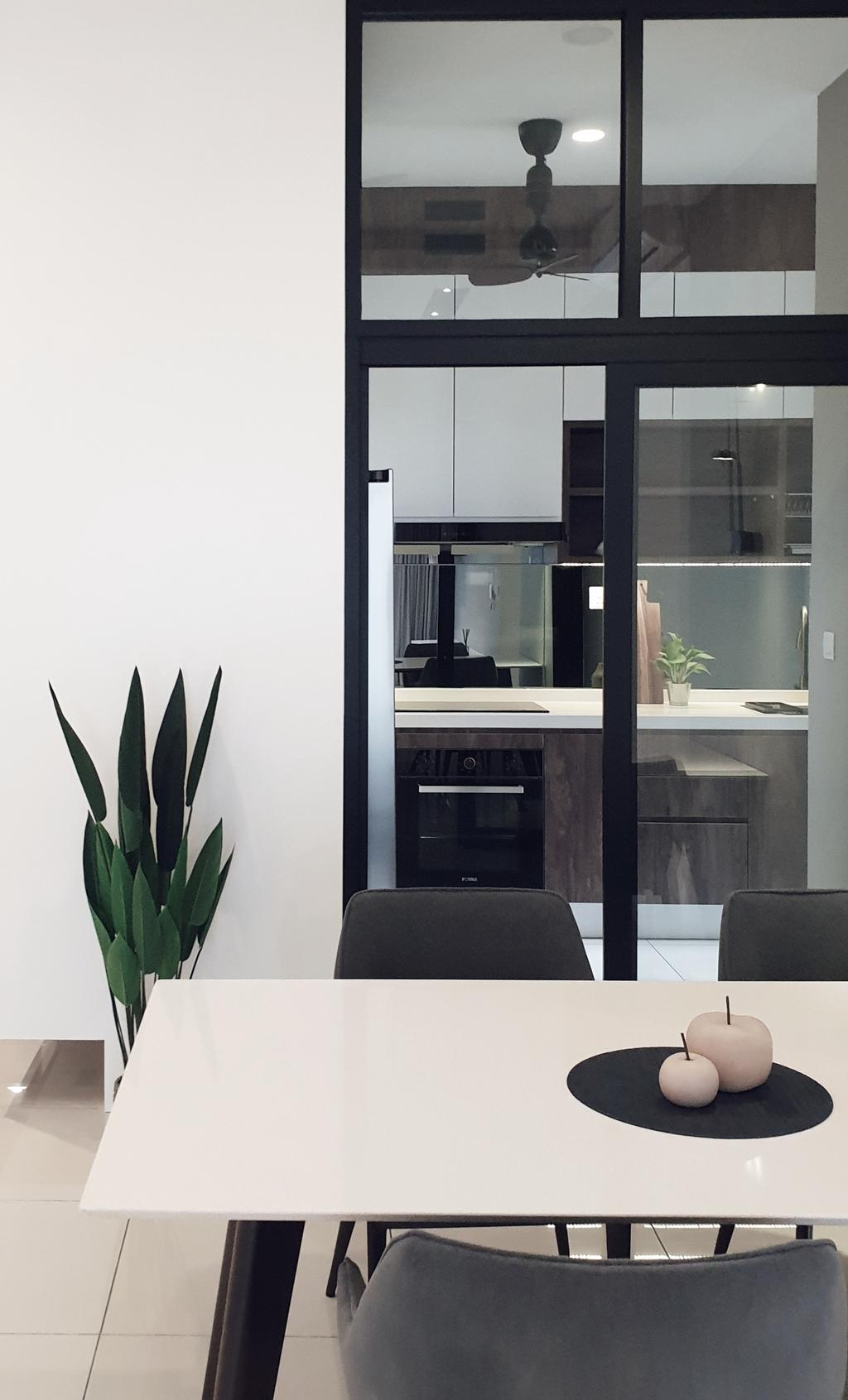 Modern, Condo, Dining Room, Pavillion Residence, Bandar Puteri Puchong, Interior Designer, Josh Thompson Interiors, Minimalistic