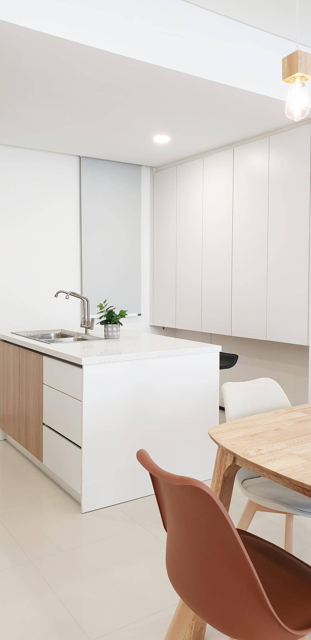 Contemporary, Condo, Kitchen, The Fennel, Sentul, Interior Designer, Josh Thompson Interiors, Minimalistic