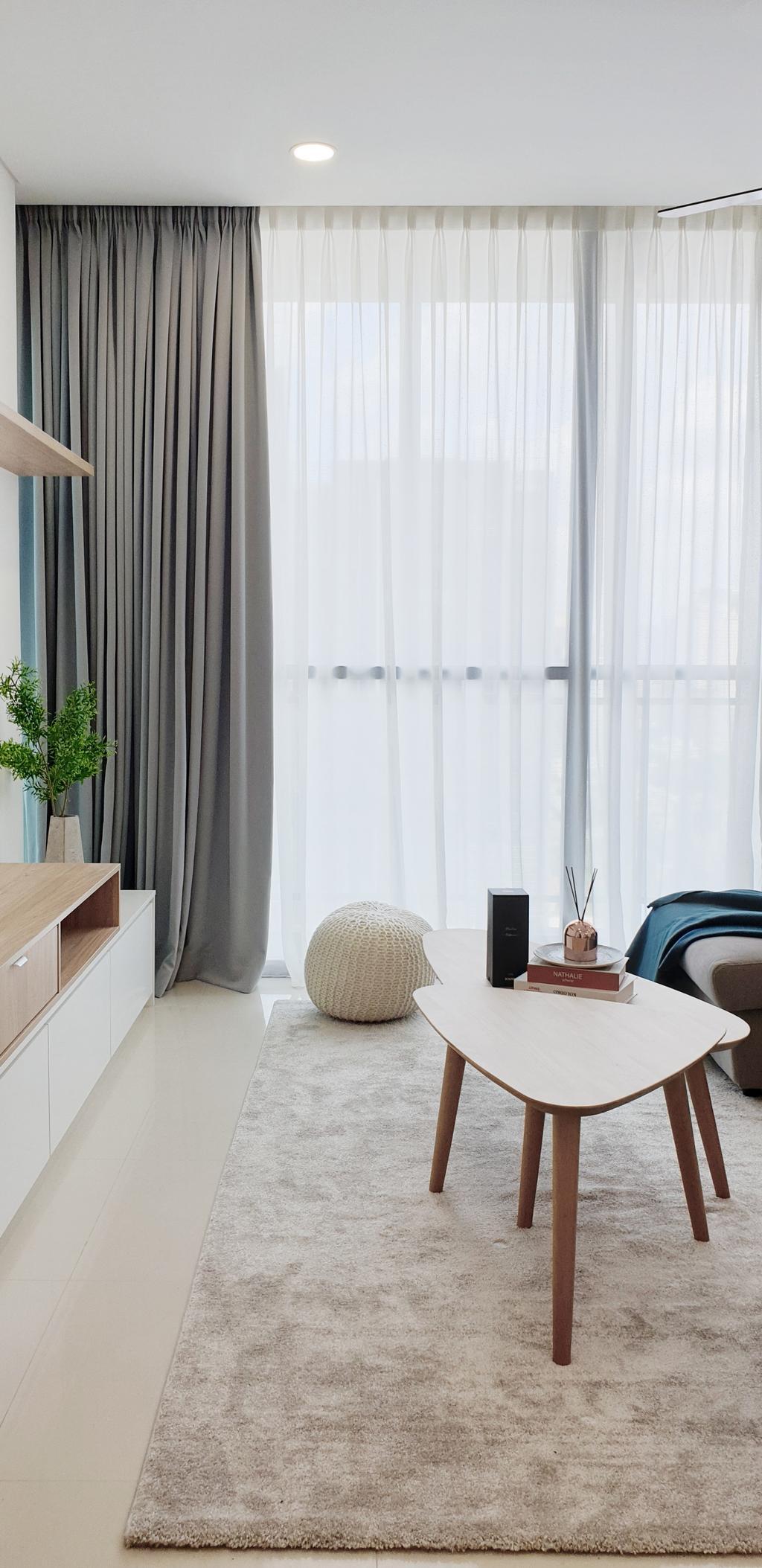 Contemporary, Condo, Living Room, The Fennel, Sentul, Interior Designer, Josh Thompson Interiors, Minimalistic