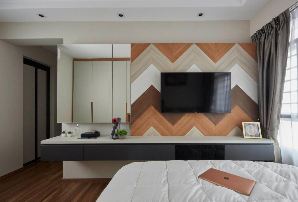 Contemporary, HDB, Bedroom, Ghim Moh Link, Interior Designer, The Interior Lab