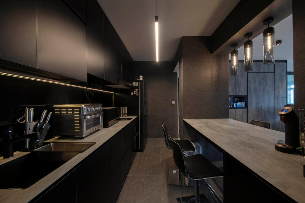 Contemporary, HDB, Kitchen, Dawson Road, Interior Designer, Aart Boxx Interior