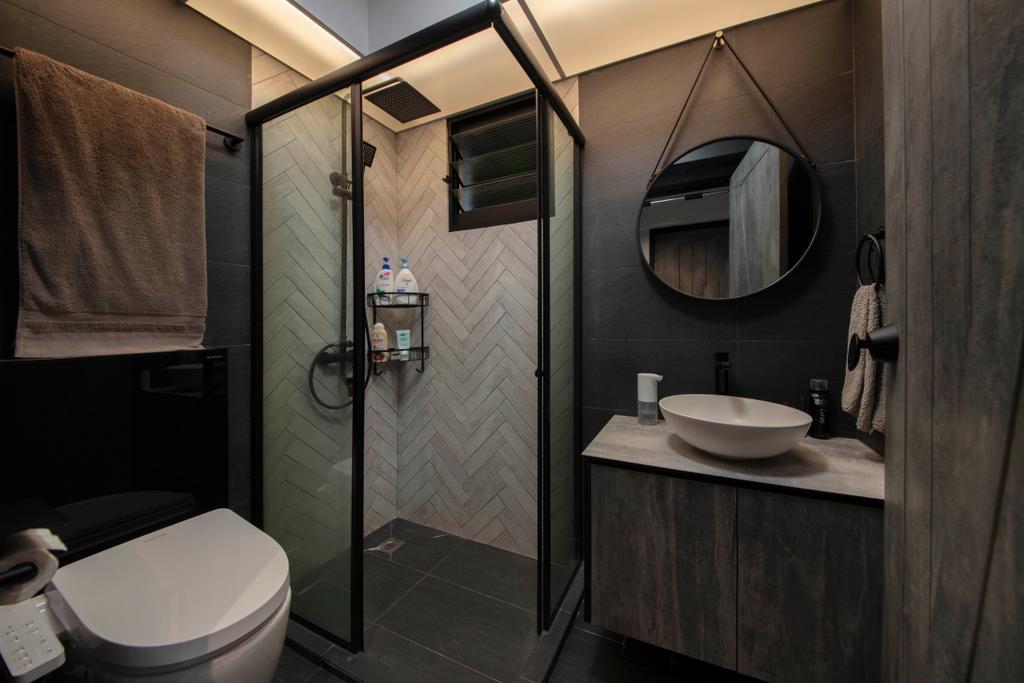 Contemporary, HDB, Bathroom, Dawson Road, Interior Designer, Aart Boxx Interior