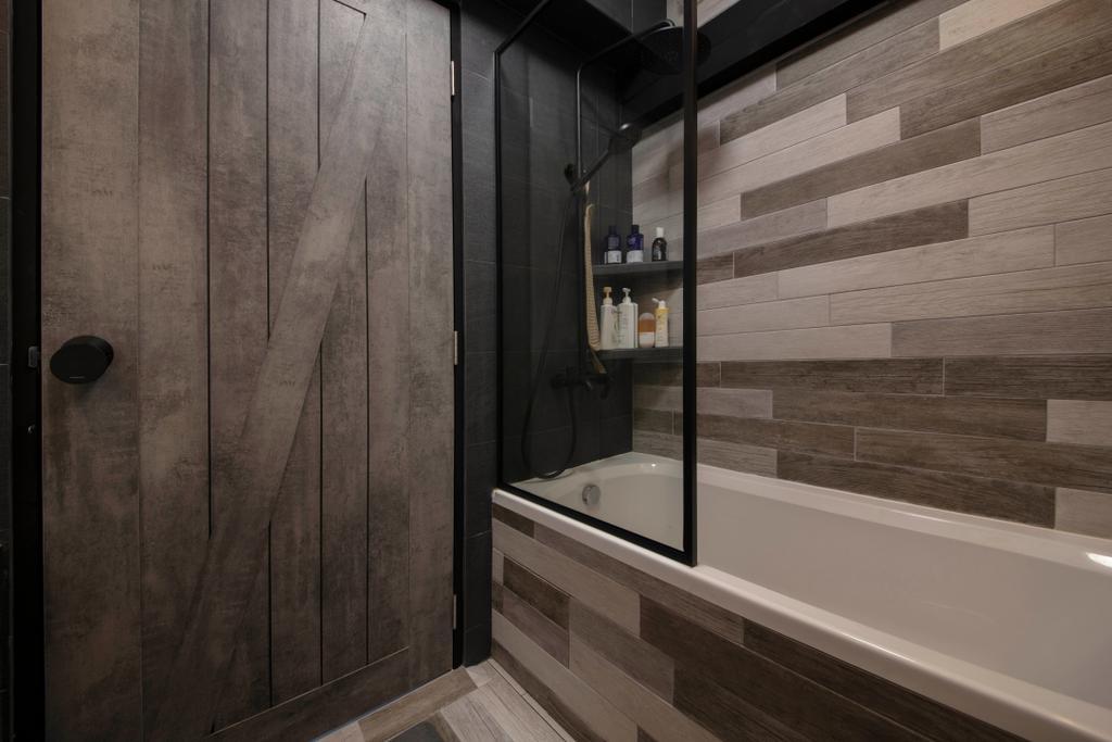 Contemporary, HDB, Bathroom, Dawson Road, Interior Designer, Aart Boxx Interior, Bathtub, Bath Tub