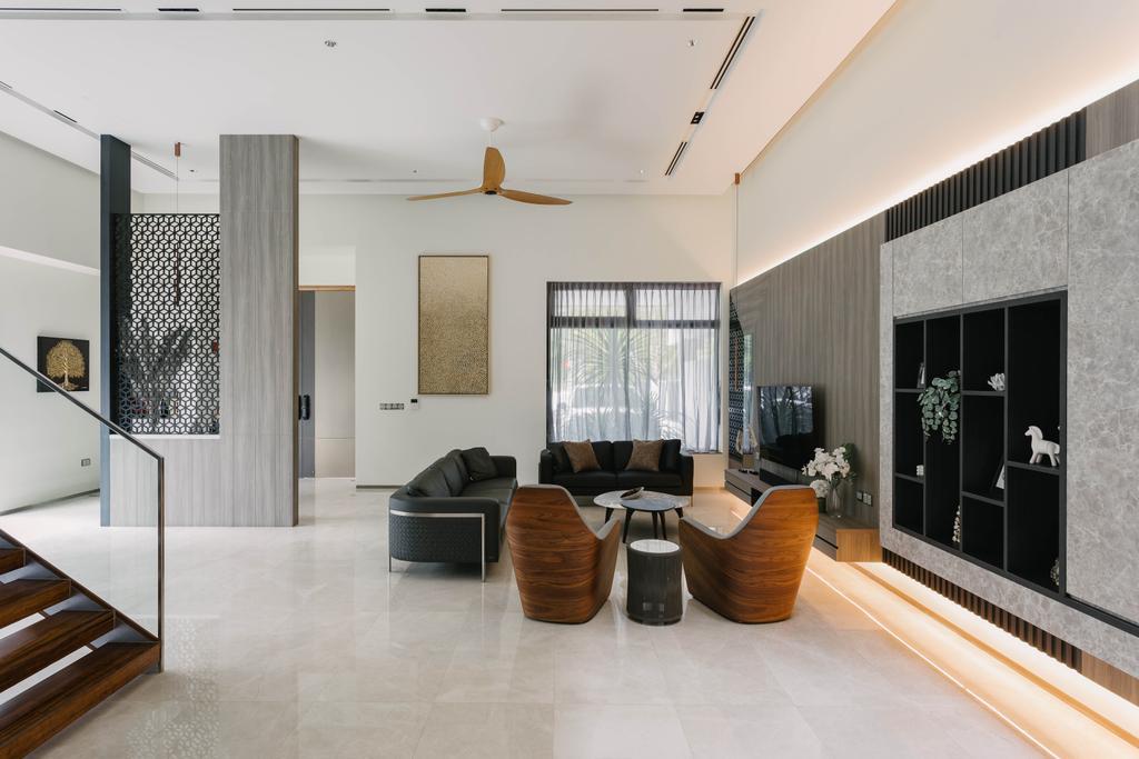 Contemporary, Landed, Living Room, Sunrise Avenue, Interior Designer, The Orange Cube