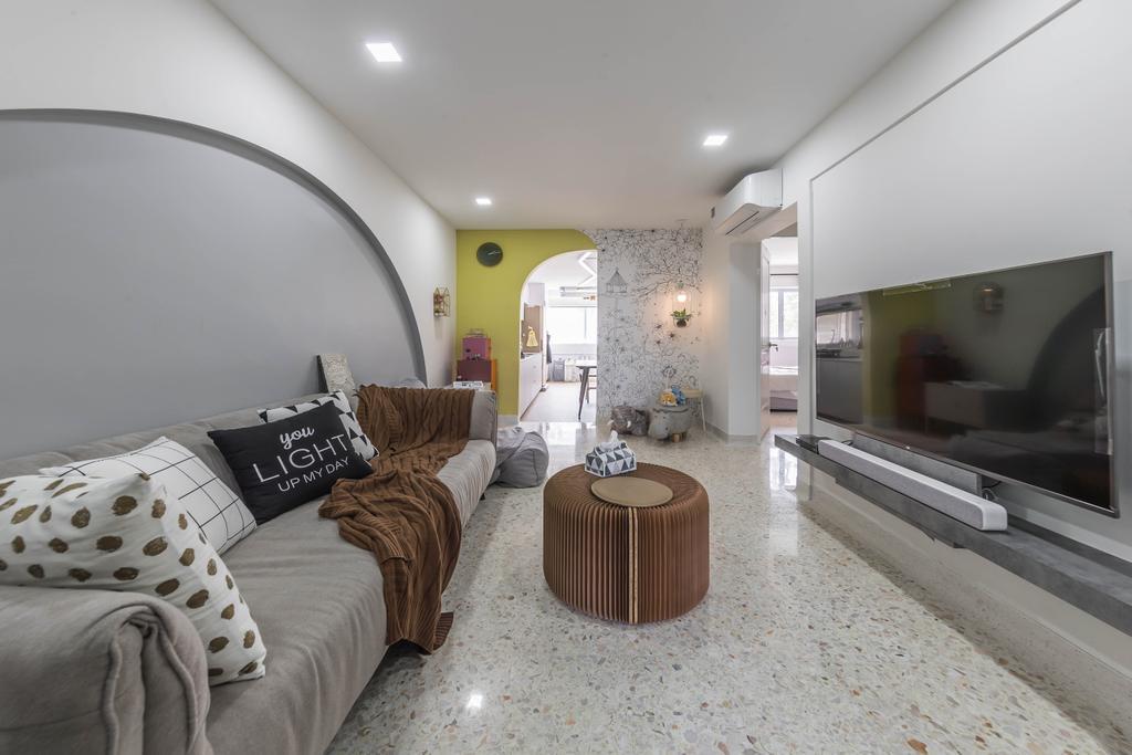 Modern, HDB, Living Room, Bedok North Street 3, Interior Designer, Ovon Design, Contemporary
