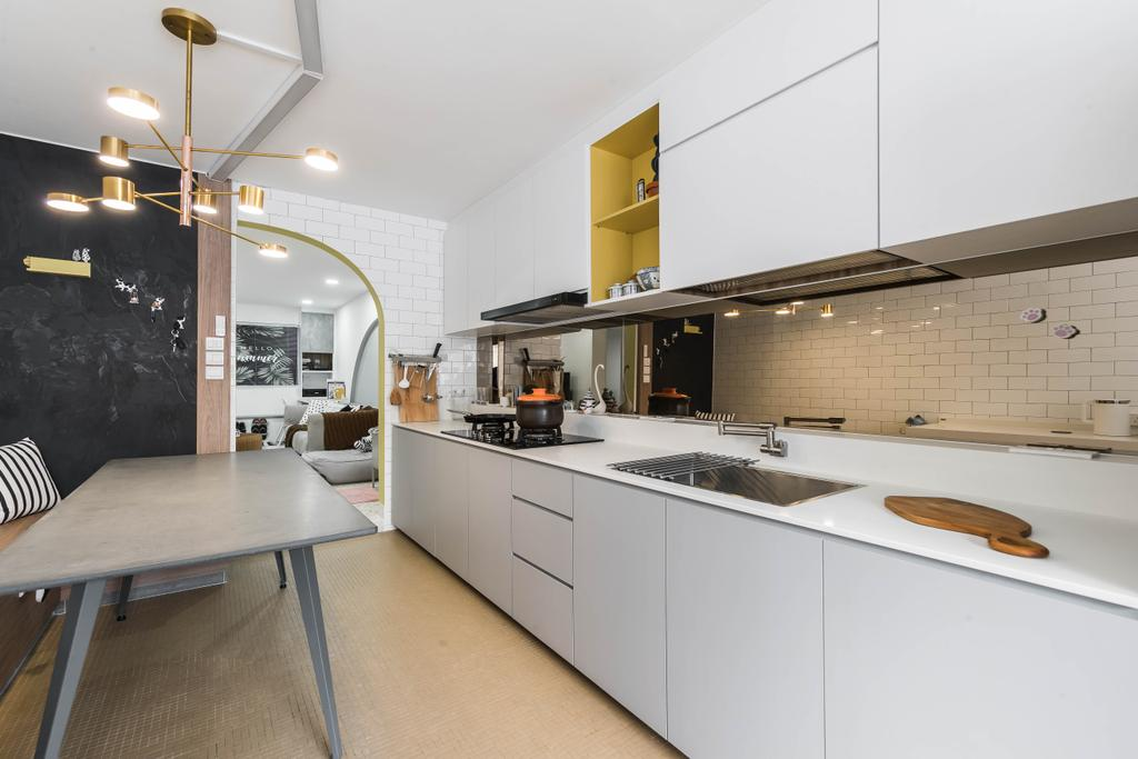 Modern, HDB, Kitchen, Bedok North Street 3, Interior Designer, Ovon Design, Contemporary