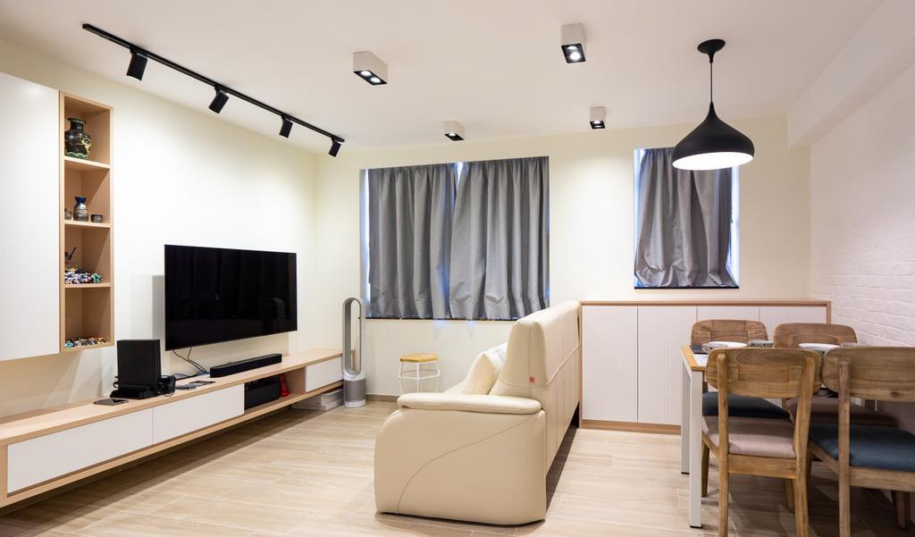 摩登, 私家樓, 客廳, Parc Oasis, 室內設計師, Blue Sky Decoration Design, 北歐