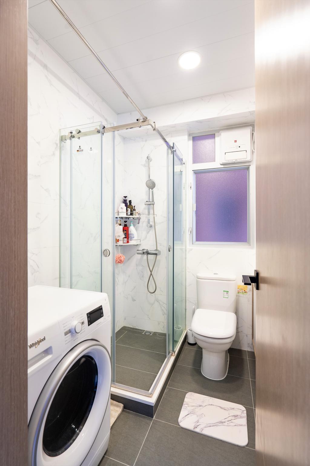 摩登, 私家樓, 浴室, Parc Oasis, 室內設計師, Blue Sky Decoration Design, 北歐