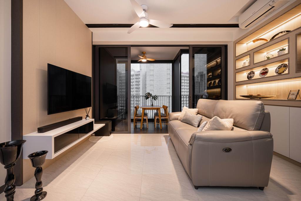Contemporary, Condo, Living Room, Gem Residences, Interior Designer, The Orange Cube, Scandinavian
