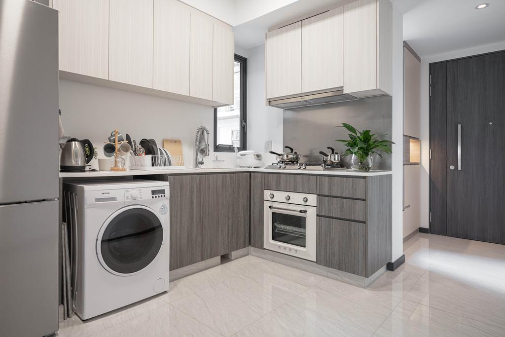 Contemporary, Condo, Kitchen, Gem Residences, Interior Designer, The Orange Cube, Scandinavian