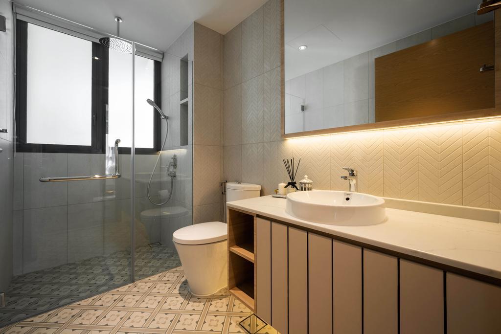 Contemporary, Condo, Bathroom, The Gale, Interior Designer, The Orange Cube, Scandinavian
