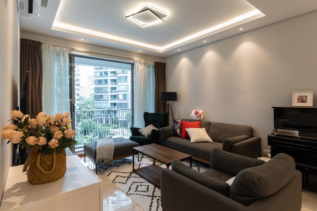 Modern, Condo, Living Room, The Quintet, Interior Designer, The Treehut Studio