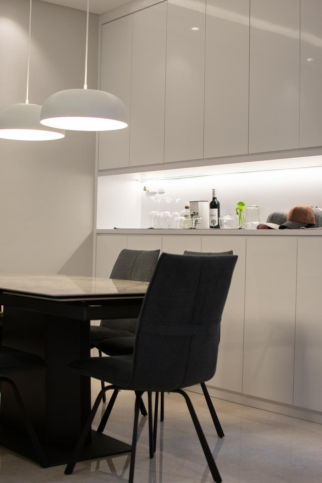 Modern, Condo, Dining Room, The Quintet, Interior Designer, The Treehut Studio