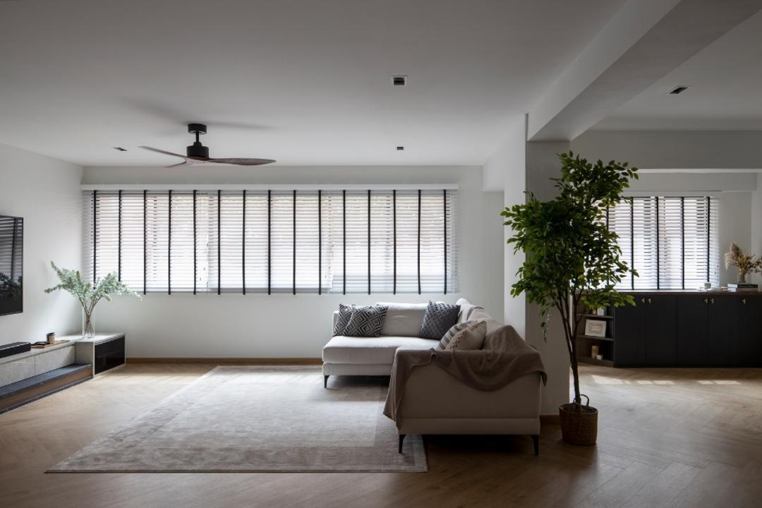 Choa Chu Kang Street 52, Carpenters 匠, Contemporary, Living Room, HDB, Open Concept, Open Layout