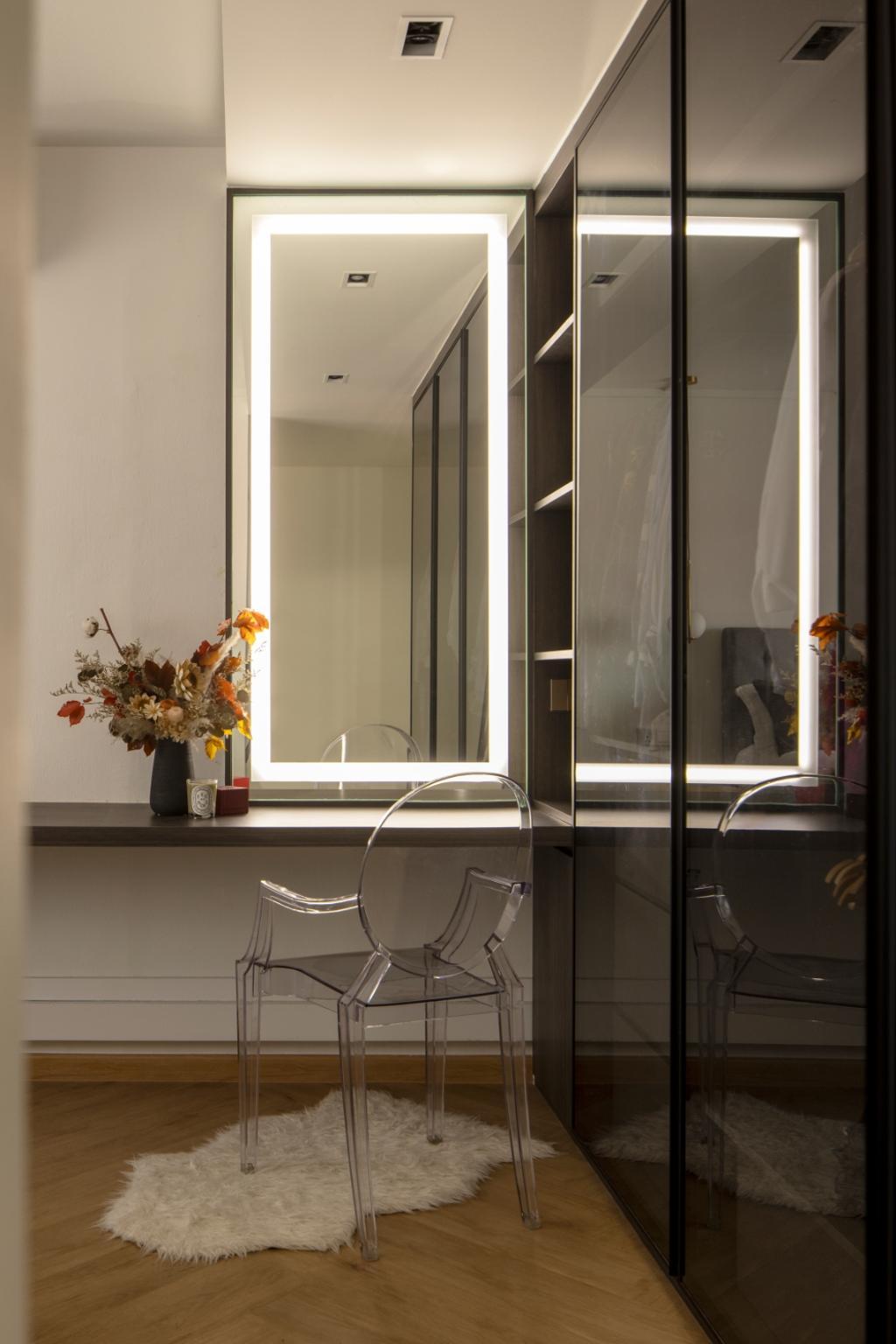 Contemporary, HDB, Bedroom, Choa Chu Kang Street 52, Interior Designer, Carpenters 匠, Vanity