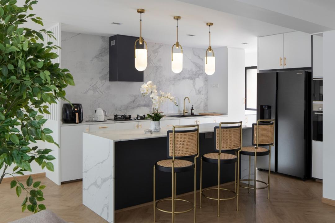 Choa Chu Kang Street 52, Carpenters 匠, Contemporary, Kitchen, HDB, Open Kitchen, Open Concept, Open Layout, Kitchen Island