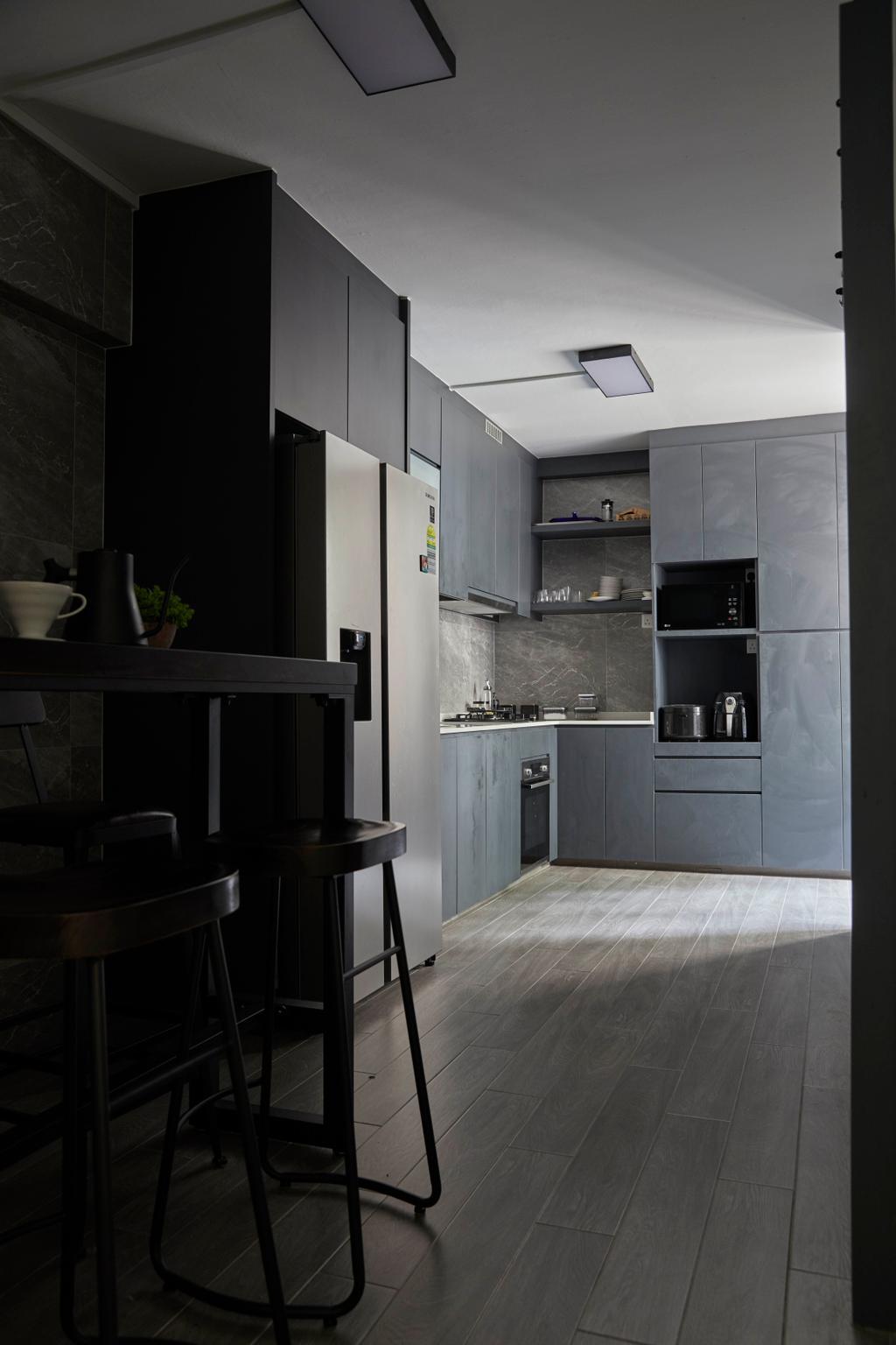Modern, HDB, Kitchen, Kim Keat Link, Interior Designer, The Interior Lab, Scandinavian