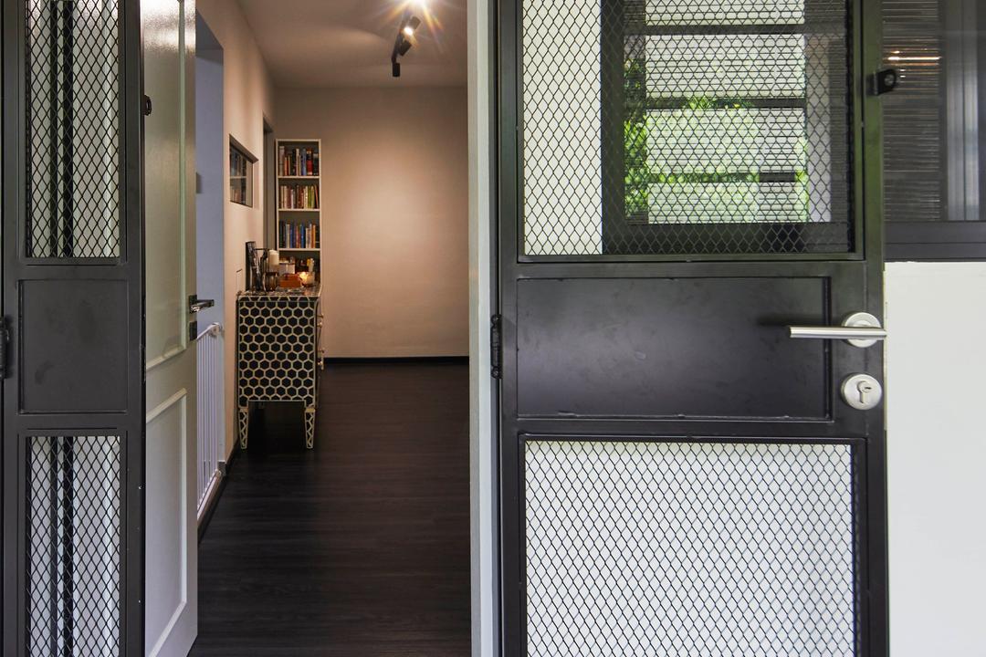 Kim Keat Link, The Interior Lab, Modern, Scandinavian, HDB, Gate, Entrance