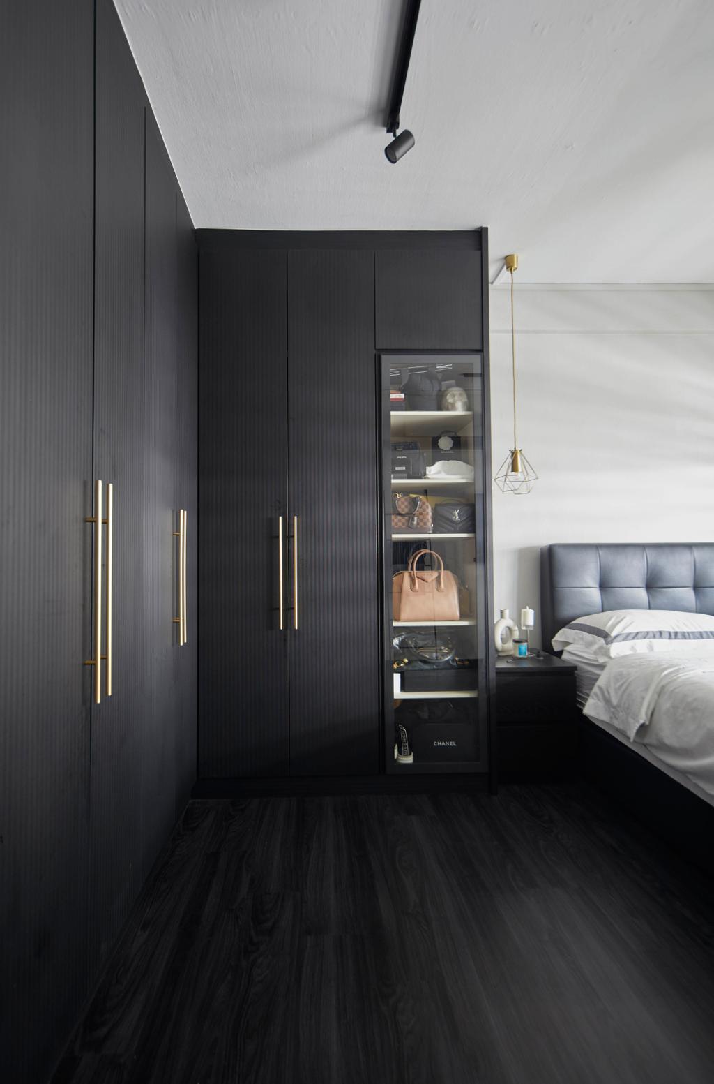 Modern, HDB, Bedroom, Kim Keat Link, Interior Designer, The Interior Lab, Scandinavian, Display, Collectibles, Wardrobe