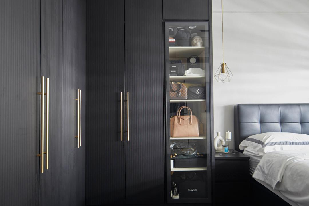 Kim Keat Link, The Interior Lab, Modern, Scandinavian, Bedroom, HDB, Display, Collectibles, Wardrobe